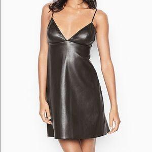 NWOT Victoria's Secret Faux-Leather Slip Dress